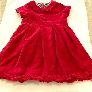 4T red velvet dress